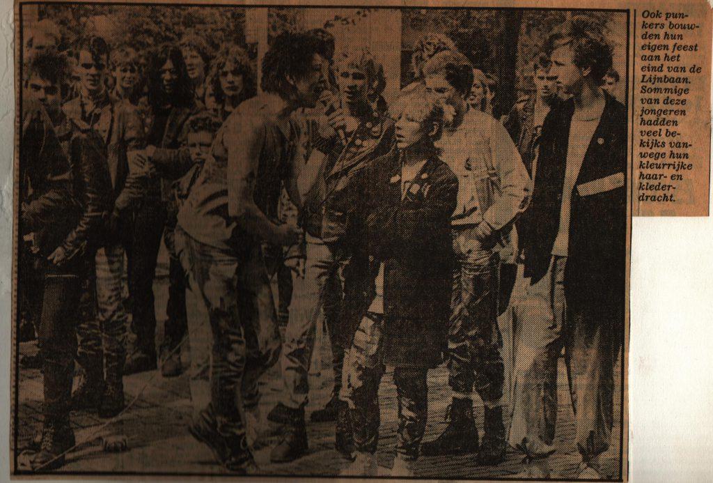 Formaline Ka open air gig Weena, Rotterdam appr. 1983